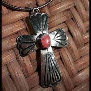 🦋Native American Cross Pendant w/chain